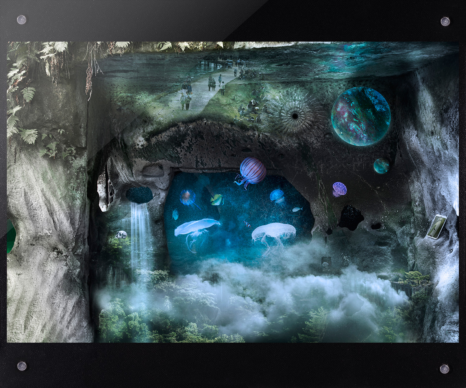 Singularity<br><small>Concept<br />Lost world, without humans.<br />Because of AI, we are history.<br />Wake up, We are being controlled by AI.<br /> ■2016年4月 ドイツ出展作品■<br>■2017年8月 International Art Book掲載■<br>■2017年10月 CONTEMPORARY Web掲載■